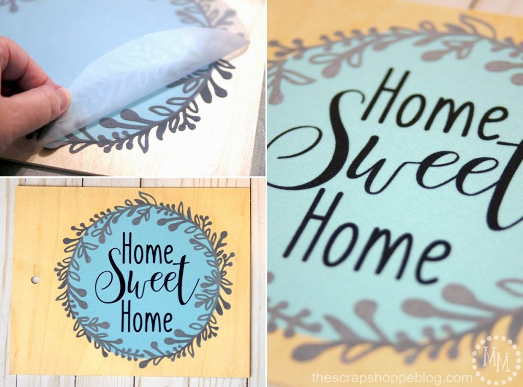 Create a rustic photo album cover using heat transfer vinyl!