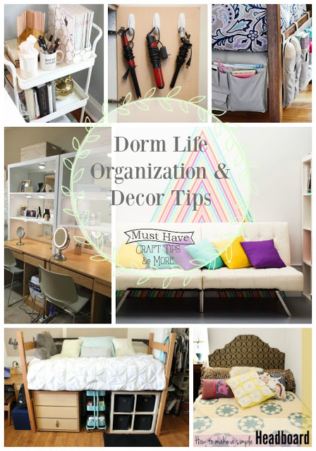 Dorm rooms are little but you really can use the space wisely and make it appeal to your style and needs to make it a super cozy home away from home.