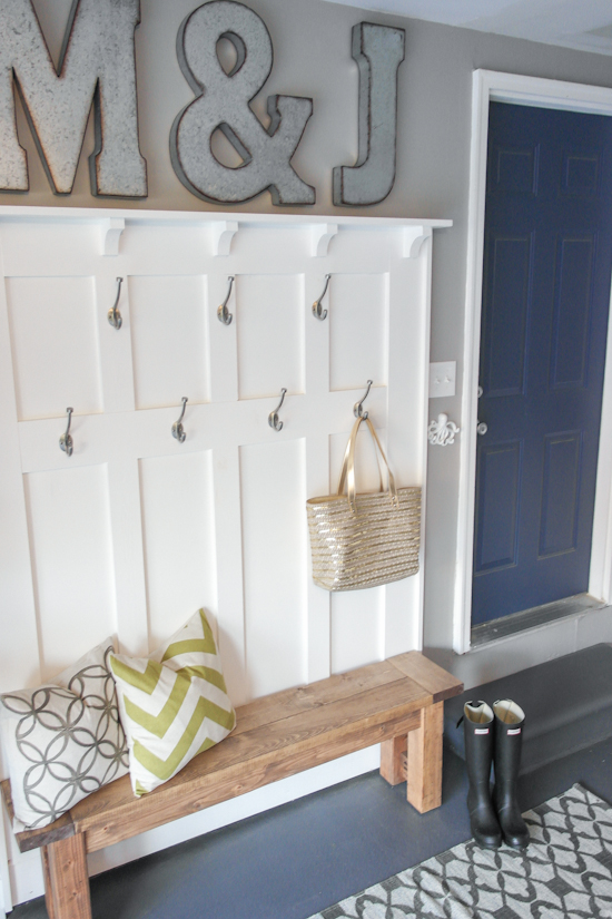 Create a mudroom in your garage.