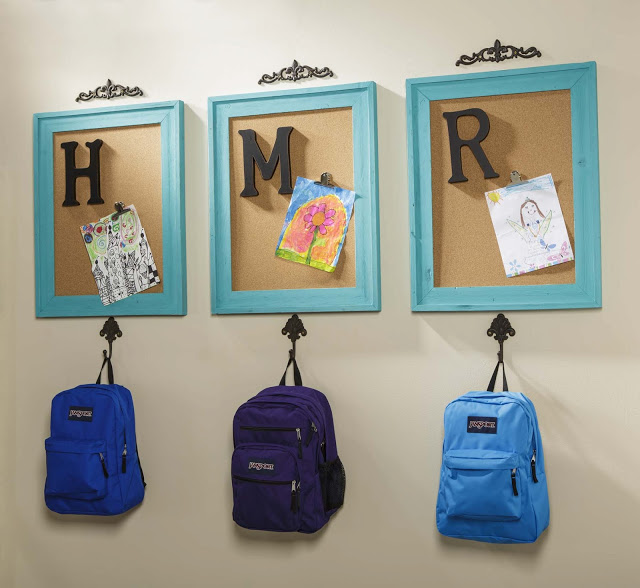 Organize your backpack area with monograms.