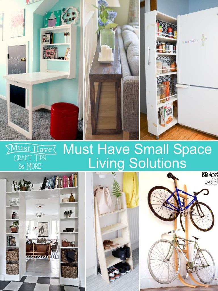 Don't let your small space get you down. Try these small space living solutions!