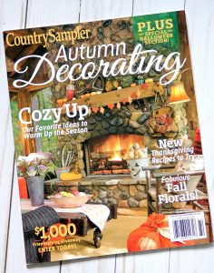 Country Sampler Autumn Decorating Magazine Feature