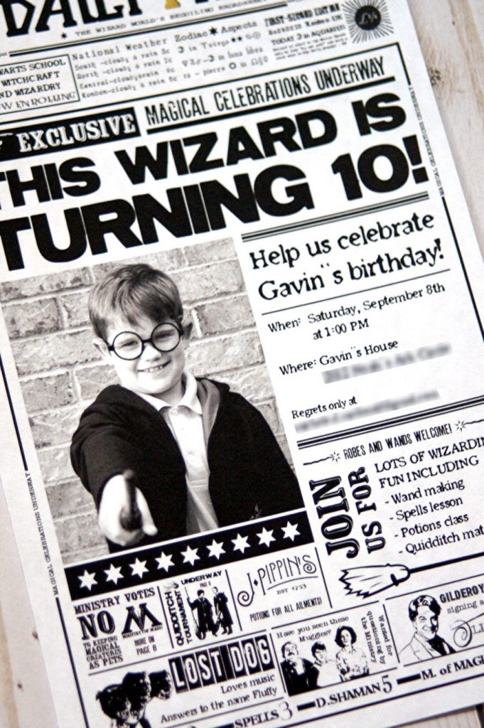 Invite your guests to a Harry Potter birthday party with this Daily Prophet printable invitation!