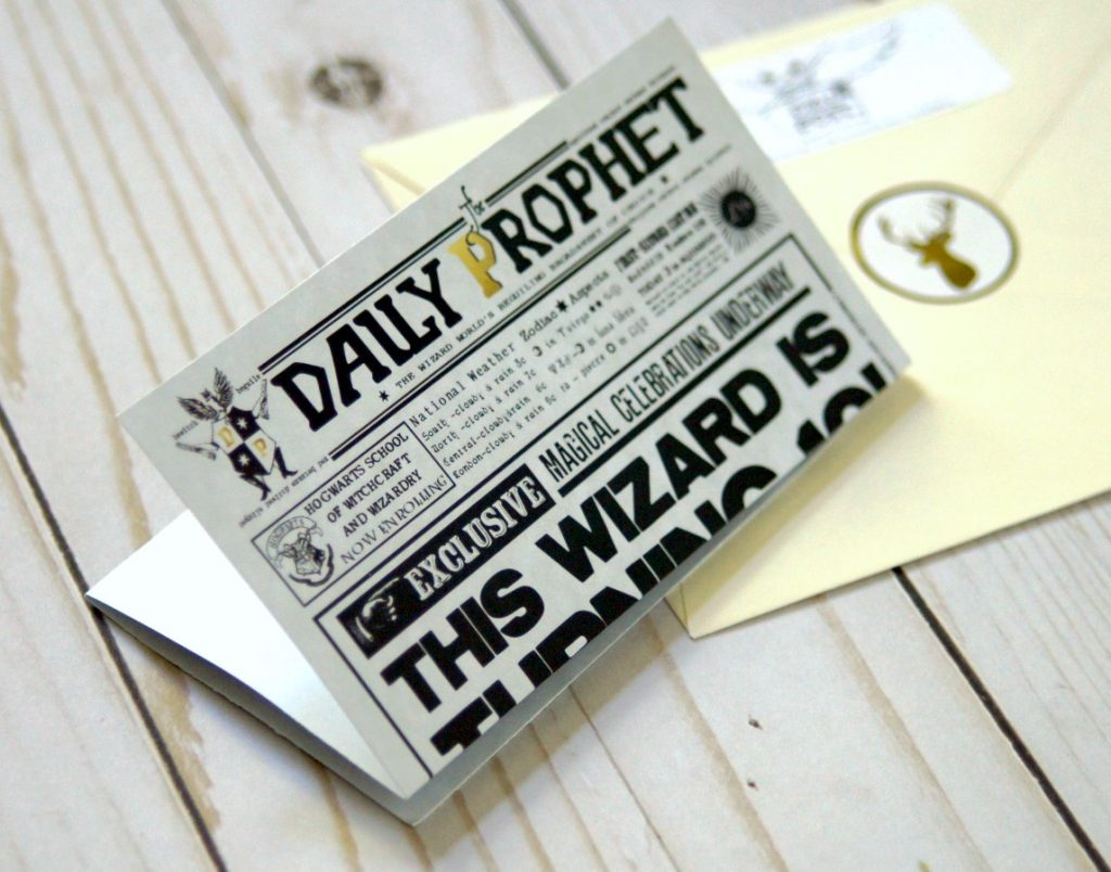 photograph relating to Daily Prophet Printable referred to as Harry Potter Birthday Invitation - The S Shoppe
