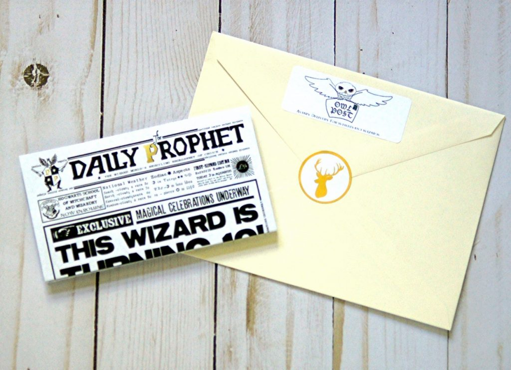 Harry potter birthday invitation the scrap shoppe invite your guests to a harry potter birthday party with this daily prophet printable invitation filmwisefo