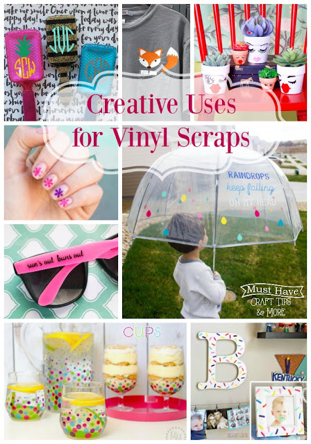 Don't throw away those vinyl scraps! There are SO many projects you can make with them!