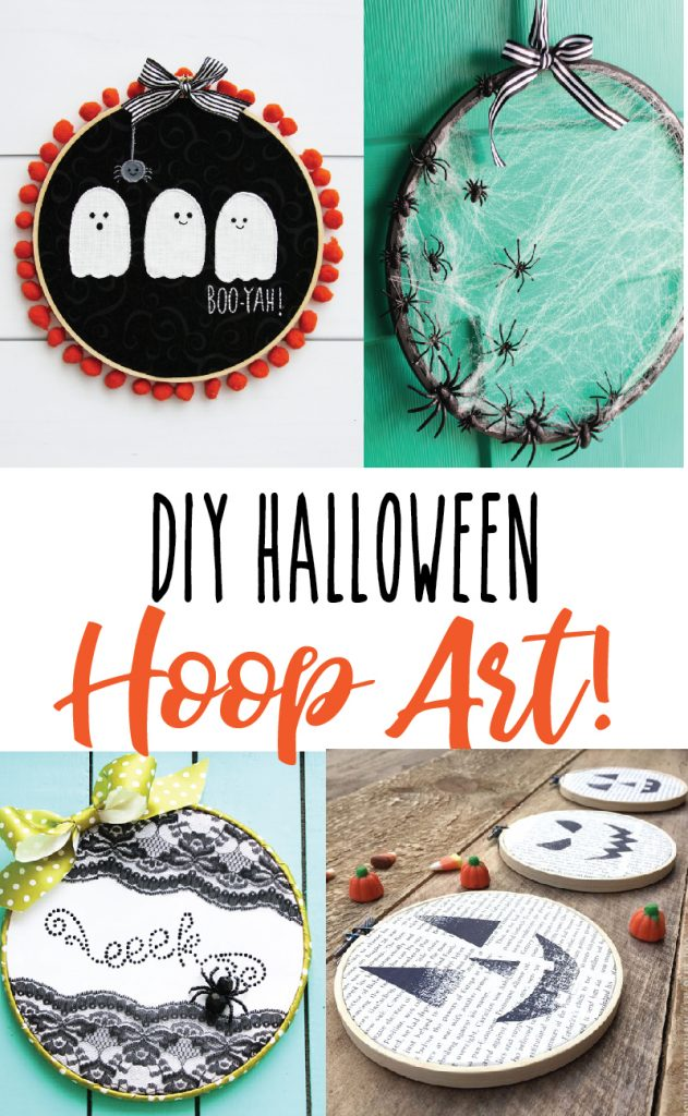 I've gathered up some of my favorite DIY Halloween Embroidery Hoop Art Projects