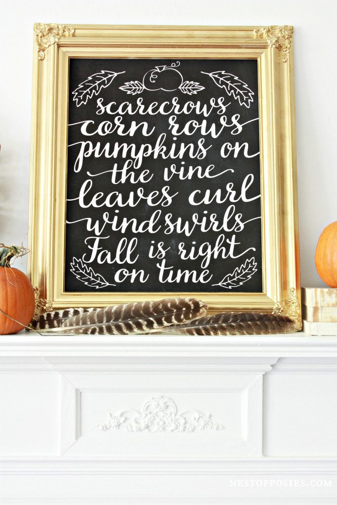 Dress up your home the EASY way with these FREE fall home decor prints!