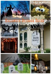 Decorate your outdoor space with these fun DIY Halloween projects!