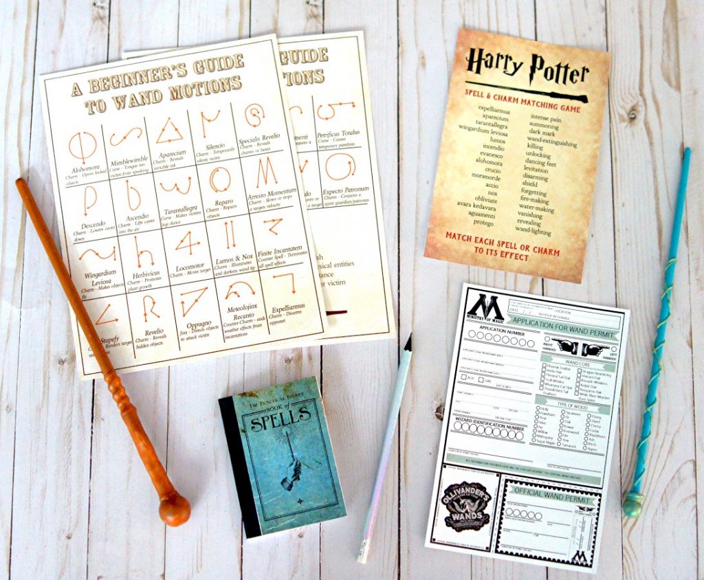 picture about Printable Harry Potter Spells called Harry Potter Wand Retail outlet Totally free PRINTABLE - The S Shoppe
