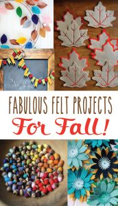 Felt is easy to work with. These fall felt projects will inspire!