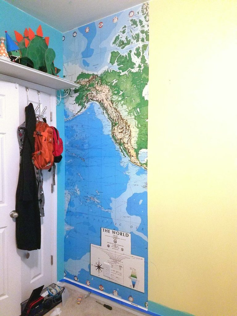 Map mural progress