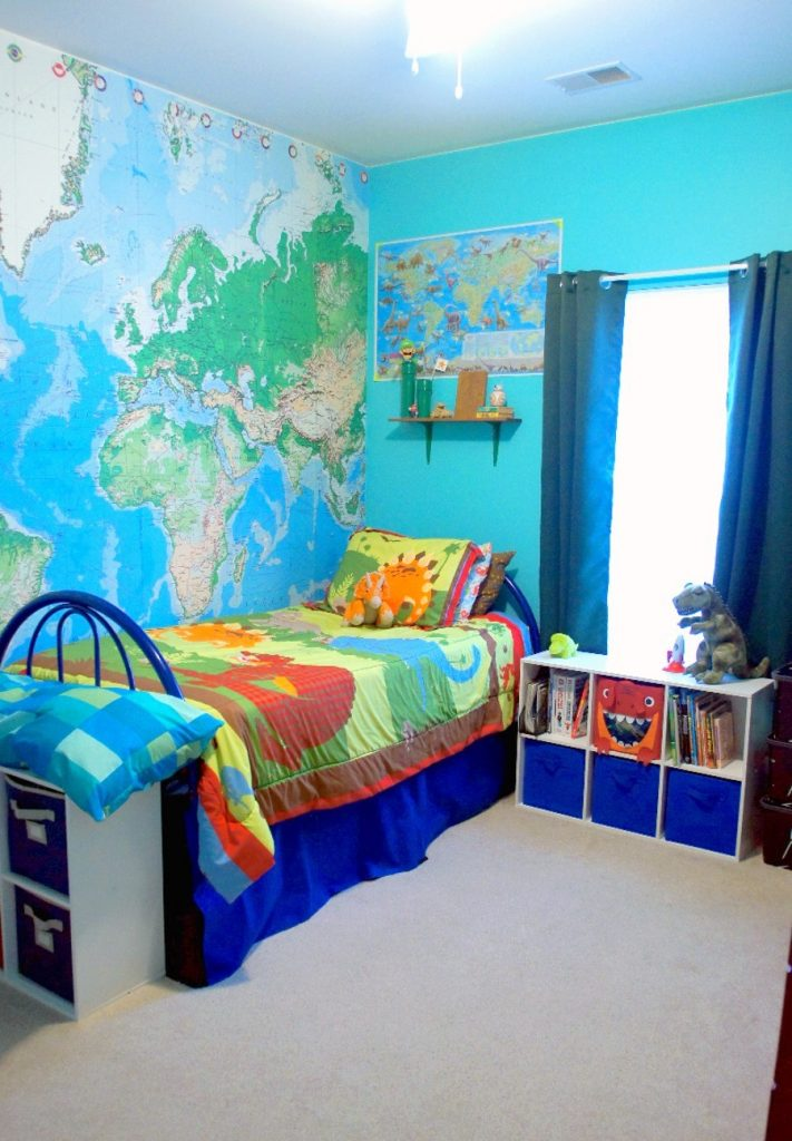 This is a bright and fun boy's room makeover!