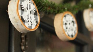 Wood Slice Winter Garland