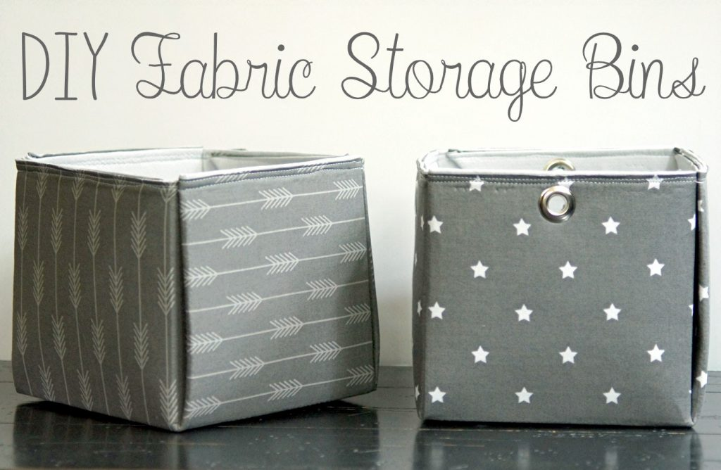 This storage DIY fabric box project is super easy to make, can be made in various sizes, and requires minimal sewing.