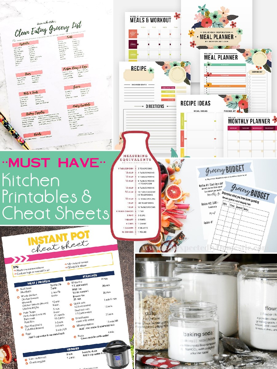 image regarding Instant Pot Cheat Sheet Printable called Need to Contain Kitchen area Printables Cheat Sheets - The S Shoppe