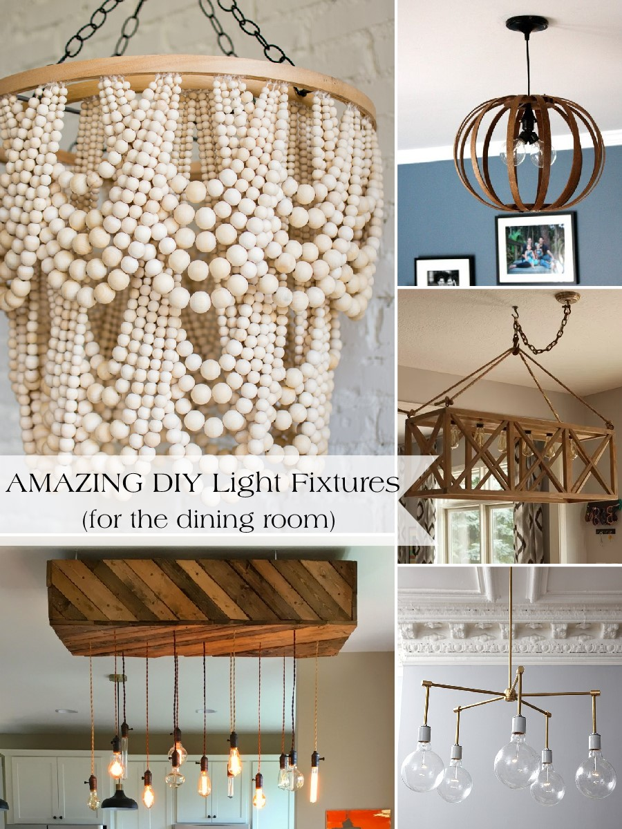 DIY Dining Room Light Fixtures Cant Find The Perfect Fixture For Your Space Dont Be