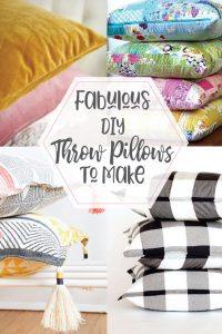 Fabulous DIY Throw Pillow Ideas