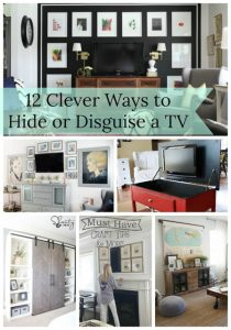 Hide your tv when you're not using it with one of these clever ideas!