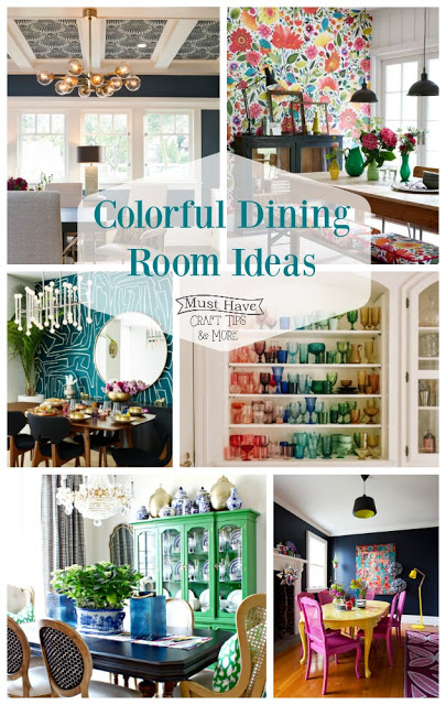 Add a pop of color to your dining room!