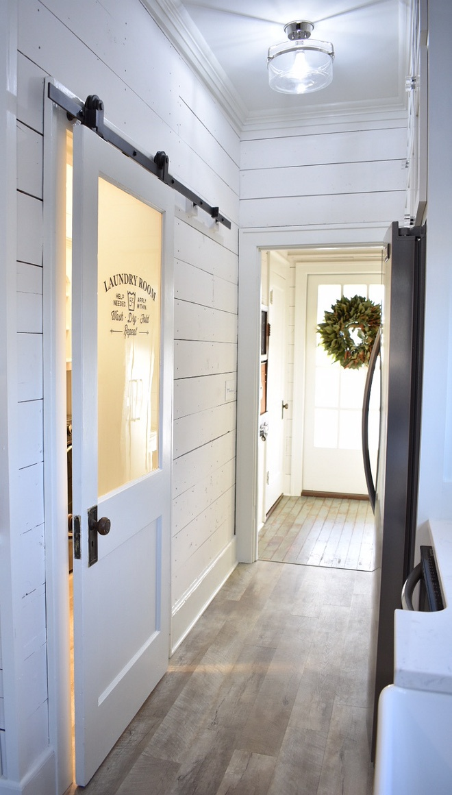 Laundry Room Makeover Rustic