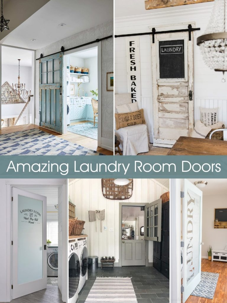 Your laundry room doesn't have to be boring. Start dressing it up from the outside with a fun door!