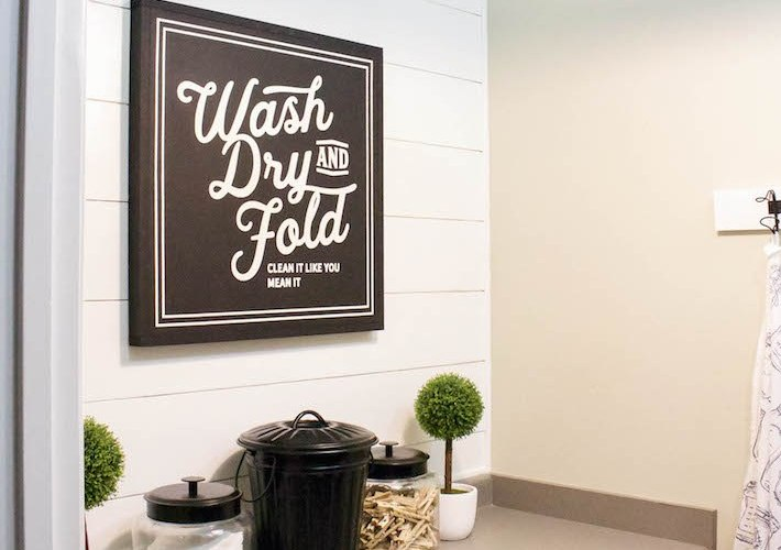 A little signage goes a long way in a small space. Dress up your laundry room with one of these DIY ideas.