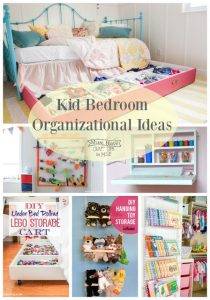 Get your kid's room organized with these bedroom organization ideas!