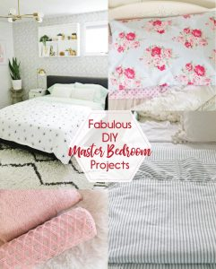 It doesn't have to be super expensive to redo your master bedroom! There are so many fun ways to dress up with room with sewing projects!