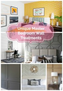 Master bedrooms are your personal sanctuaries inside your home so why not make them unique with a wall treatment.