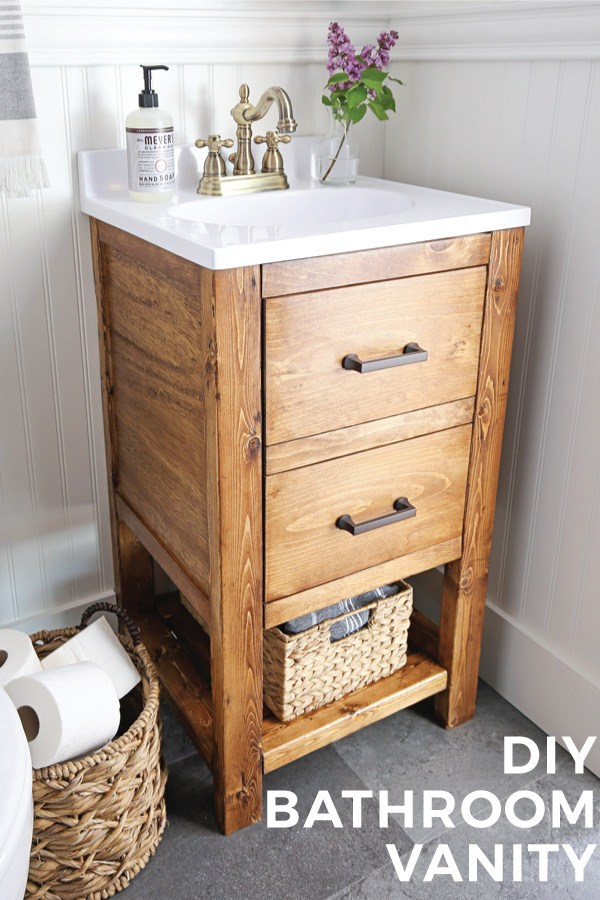 Bathroom makeover don't have to be expensive. Start with a fun bathroom vanity update!