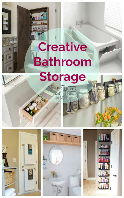 These creative bathroom storage ideas will help you make the most out of the space you have!