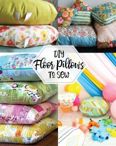 Decorate your playroom with kid-friendly DIY floor pillows!