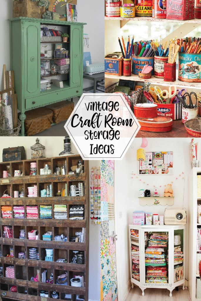 Vintage craft room storage ideas