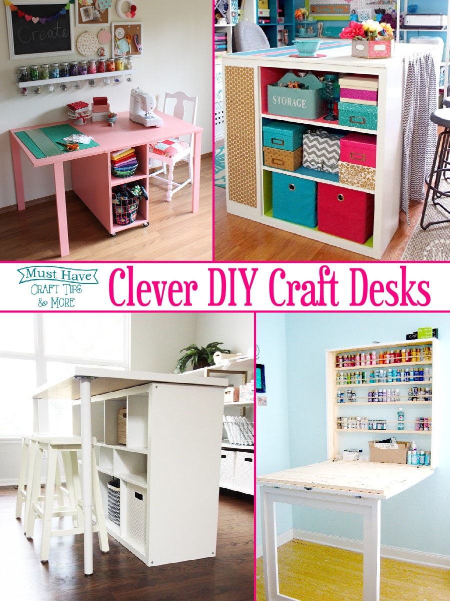 Clever Diy Craft Desks The Scrap Shoppe