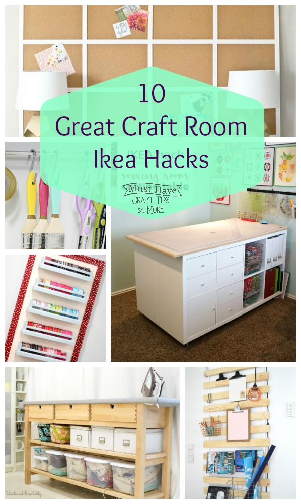 Great IKEA hacks for the craft room!