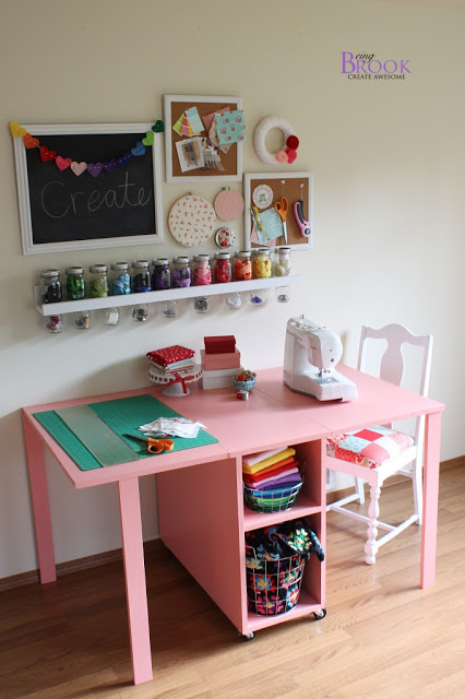 Maximize your work space with one of these clever DIY craft desks!