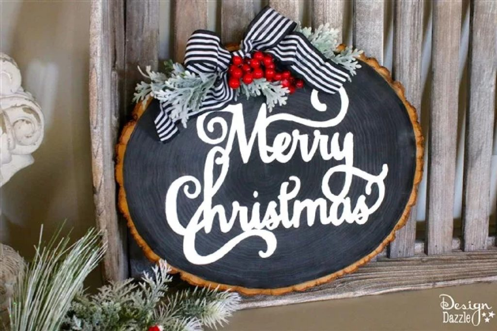 Get a jump start on the holidays by creating one of these cute DIY Christmas signs!