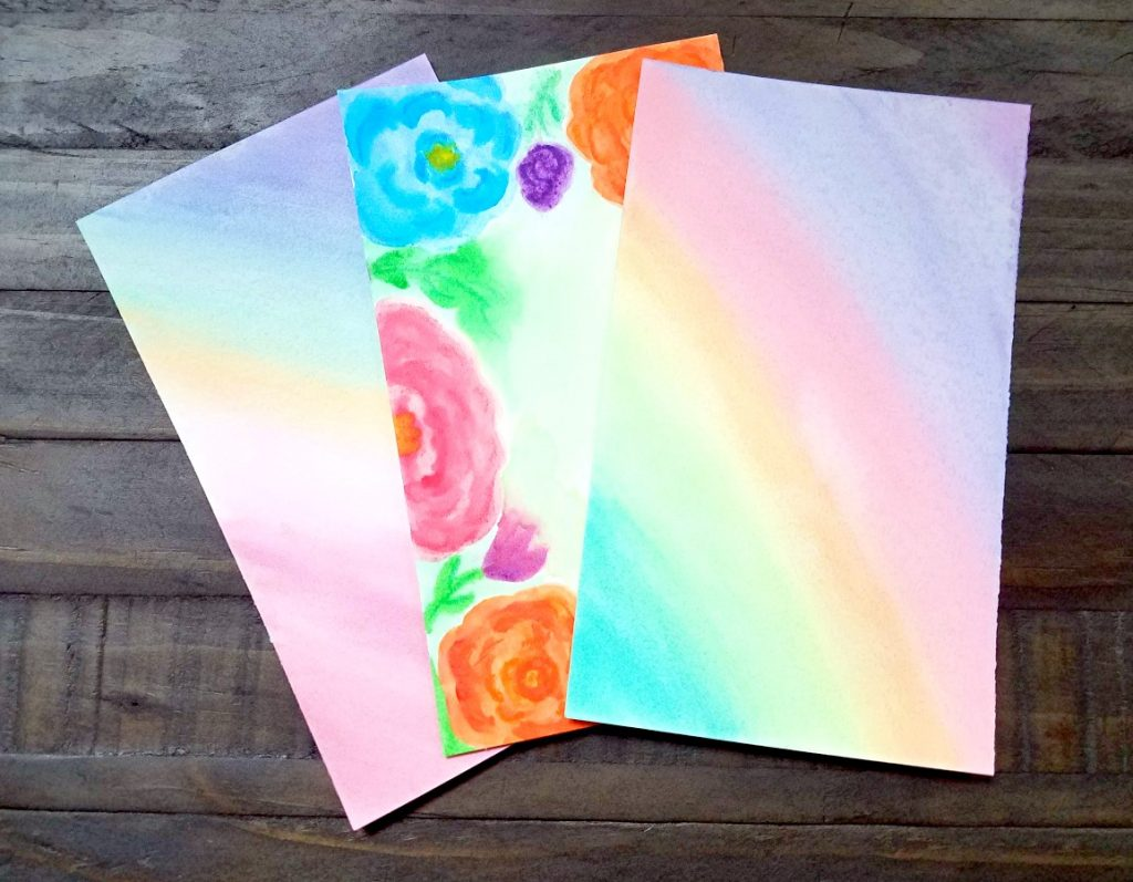 Make a sweet and simple watercolor card for your favorite teacher!