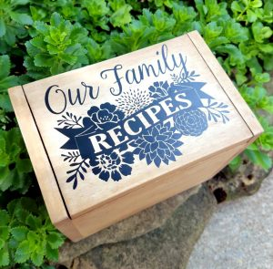 Family Recipe Box with FREE Cut File