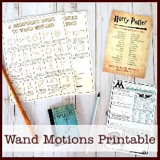 Harry Potter Wand Motions Printable