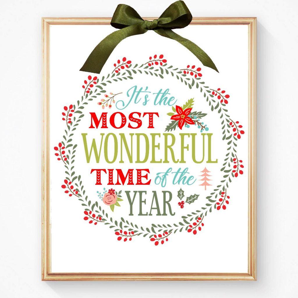 Framed Christmas Printable