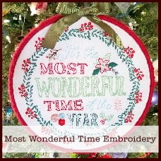 most wonderful time embroidery