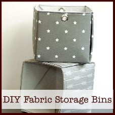diy fabric storage bins
