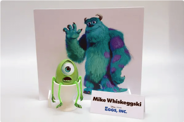 Disney's Sully and Mike from Monsters Inc Easter Eggs