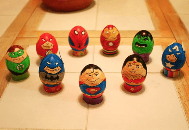 Superheroes Easter Eggs