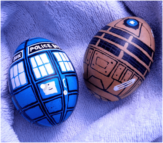 Dr. Who Dalek and Tardis Easter Eggs